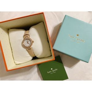 Kate Spade leather watch rose gold